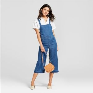 Universal thread tie back wide leg overall